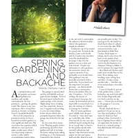 April 2012 – Spring, Gardening and Backache