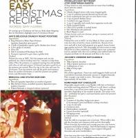 December 2013 – Christmas Recipes (Amy Harris)