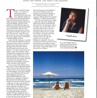 July 2013 – Michelle's Column