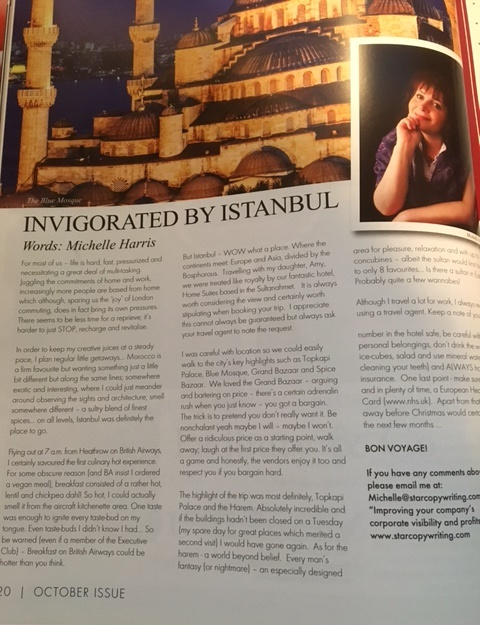 Invigorated by Istanbul